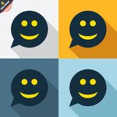 Smile face signs — Cтоковый вектор
