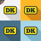 Denmark language signs — Stock Vector
