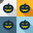 Halloween pumpkin signs — Stock Vector #62869285