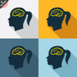 Head with brain sign icons — Stock Vector #62869501