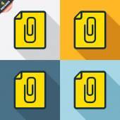 File annex icons — Vetorial Stock