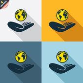 World insurance signs — Cтоковый вектор