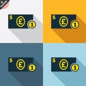 Cash sign icons — Cтоковый вектор