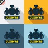 Clients sign icons — Cтоковый вектор