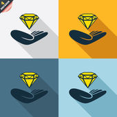 Jewelry insurance signs — Wektor stockowy