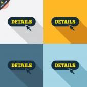 Details with cursor pointer icons — Cтоковый вектор