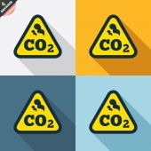 CO2 carbon dioxide formula signs — Stock Vector