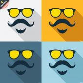 Mustache and Glasses signs — Vector de stock