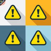 Attention icons — Stock Vector
