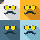 Segni di baffi e occhiali — Vettoriale Stock