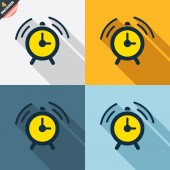 Alarm clock sign icons — Stock Vector