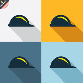 Hard hat sign icons — Stock Vector