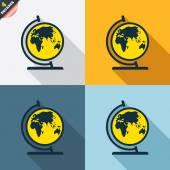 Globe sign icons — Vetorial Stock