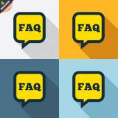FAQ information signs — Wektor stockowy