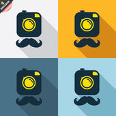Hipster photo camera signs — Wektor stockowy
