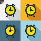 Segni di allarme orologio — Vettoriale Stock