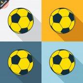 Fotbalový míč značky — Stock vektor