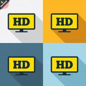 HD widescreen tv. — Cтоковый вектор