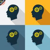 Head with gears signs — Wektor stockowy