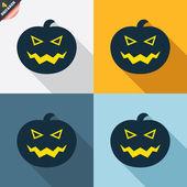 Signes de citrouille d'Halloween — Vecteur