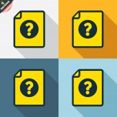 File document help icons — Wektor stockowy