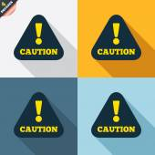 Attention caution signs — Stock Vector