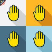 рука знаки — Cтоковый вектор