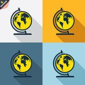 Globe signs — Stock Vector