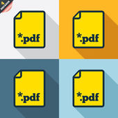 PDF file document icons — Stockvector
