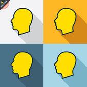 Head sign icons — Cтоковый вектор