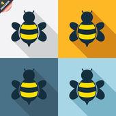 Muestras de abejas — Vector de stock