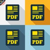 PDF file document icons — Vetorial Stock