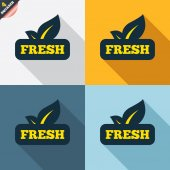 Fresh product signs — Vector de stock