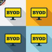 BYOD signs — Stock Vector