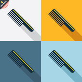 Comb hair sign icons — Cтоковый вектор
