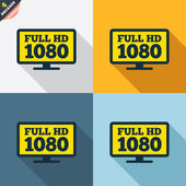 Full hd widescreen tv. — Wektor stockowy