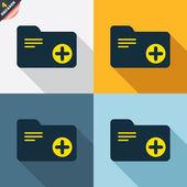 Add document folder signs — Vetorial Stock