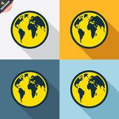 Globe signs — Vetorial Stock