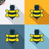 Bee tecken — Stockvektor