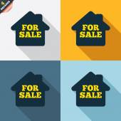 For sale signs — Stock Vector