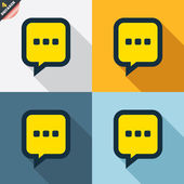 Chat sign icons — Stock Vector