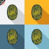 Fingerprint signs — Wektor stockowy