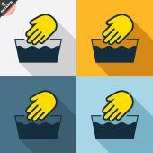 Hand wash signs — Cтоковый вектор