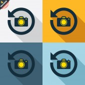 Front photo camera signs — Wektor stockowy