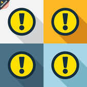 Attention sign icons — Stock Vector