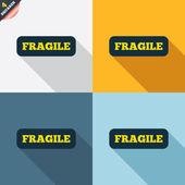 Fragile parcel icons — Vetorial Stock