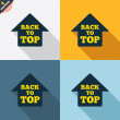 Back to top arrow signs — Stockvektor  #62870443