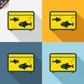 Aquarium sign icons — Stock Vector