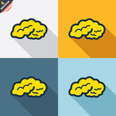 Brain sign icons — Stock Vector