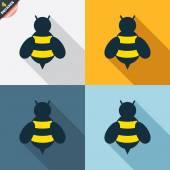 Bee signs — Stock Vector